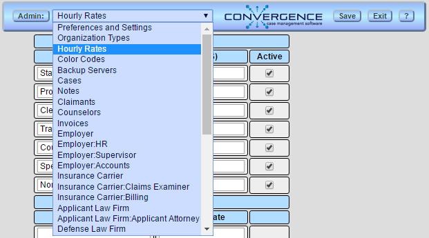 Convergence Manual | Admin User
