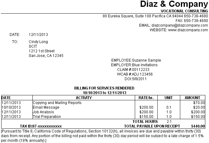 Below Is An Example Of An Invoice Generated With The Standard Template That  Installs With Convergence. This Template May Be Modified Or Replaced By A  User ...